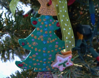Whimisical Christmas Tree Ornament