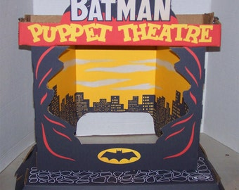Ideal Batman PUPPET THEATER STAGE Set Sears Exclusive full size reproduction 1966