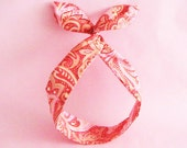 Dolly Bow Headwrap-Vintage Style Red