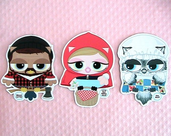 The Little Red Riding Hood Owl Magnets
