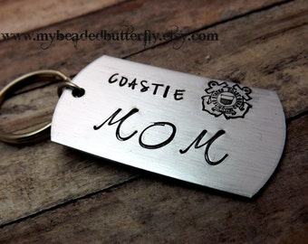 Coast guard keychain-USCG-Coastie-coastie mom-coastie dad-coast guard insignia