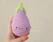 Amigurimi Eggplant Orange (or Mauve)  Crocheted