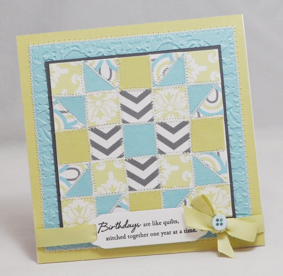 Birthday Quilt Card By PartyDecorandMoore On Etsy