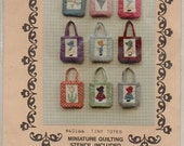 Tiny Totes Pattern Needleart Guild Number 40166 Mini Quilting