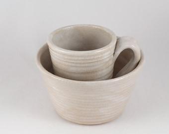 White Bowl and Mug Set, 75% Off