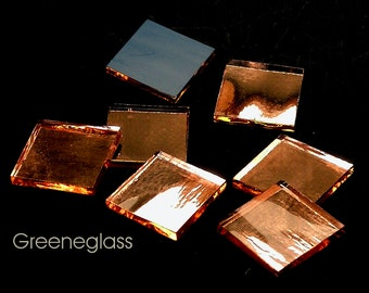 Champagne Mirror Glass for Mosaics and Stained Glass - Med Pack - Diamond, Triangles, Rectangles, Squares, Strips