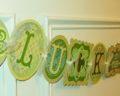 """Vintage Inspired """"Luck O' the Irish"""" St. Patrick's Day Banner Decoration, photography prop, bunting"""