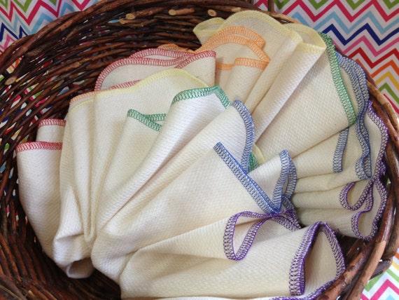 24 Birdseye Unpaper Towels in Rainbow Colors