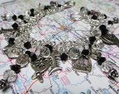 GOTTA HAVE FAITH beaded fringe handmade artisan charm bracelet ooak free shipping