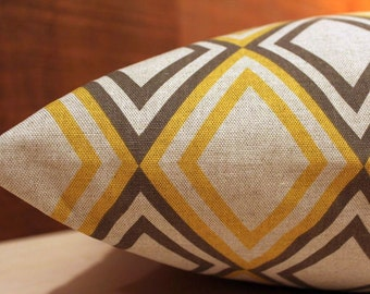 Add Personalization - DESIGNER Pet Bed Duvet Cover - Stuff with Pillows - You Choose Fabric - Annie Collection Corn Yellow/Kelp Linen shown
