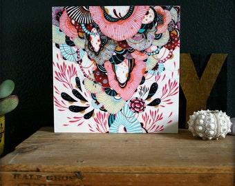 8x8 Mounted Print on Wood Panel - Afloat