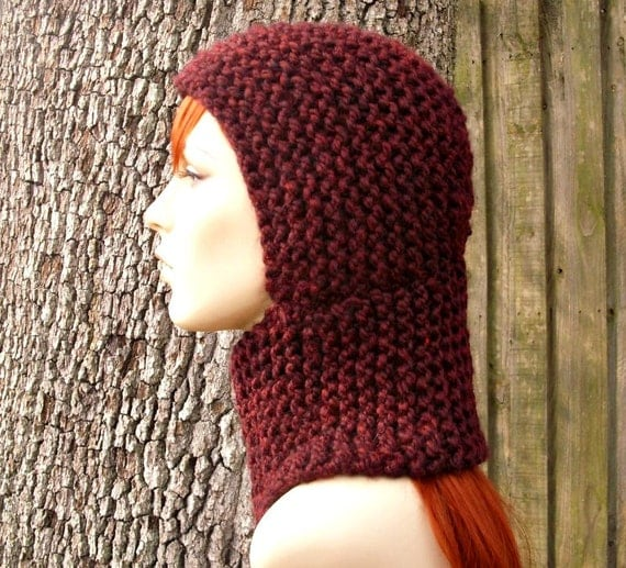Ladies Balaclava Knitting Pattern : Instant Download Knitting Pattern - Knit Hat Knitting Pattern - Knit Hat Patt...