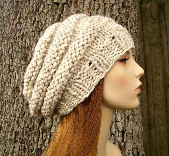 Knit Hat Womens Hat - Original Beehive Beret Hat in Wheat Cream Knit Hat - Cream Hat Cream Beret Cream Beanie Womens Accessories