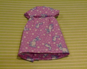 Blythe Dress - Little Bunnies On Purple
