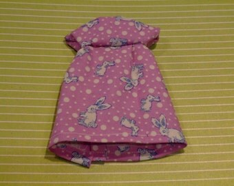Blythe Dress - Little Bunnies On Purple