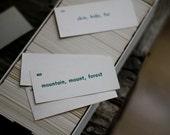 Vintage Spanish Vocabulary Cards
