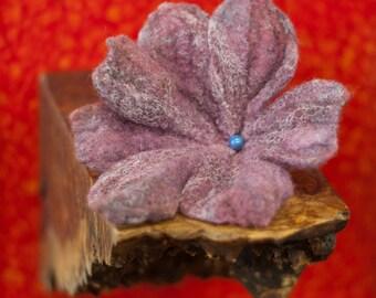Lilac Rose Felt Lily Brooch