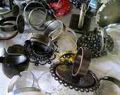 DESTASH SALE, ring grab bag of assorted adjustable ring blanks, pick your amount