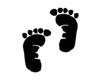 Footprint stamp | Etsy