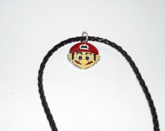 Mario Necklace Super Mario Gamer Nintendo Super Nintendo  Novelty  Guy  Nerd Geek   READY TO SHIP