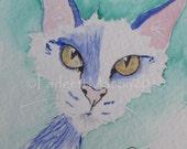 Padgett Mason Original ACEO 'Mickey' Funky Feline Kitty  Cat