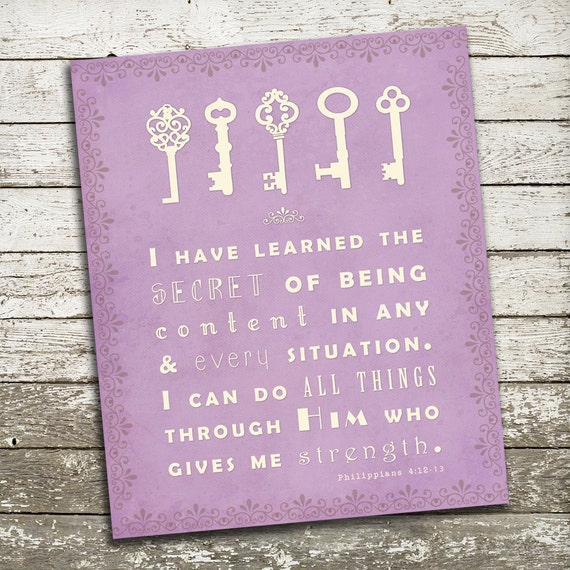 Scripture Wall Art I Can Do All Things Through By