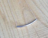 sterling silver bar necklace | gift for her | everyday necklace