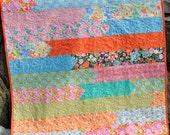 Handmade Quilt, Lap Quilt, Coverlet