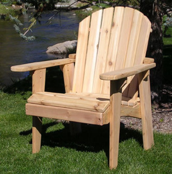 1 Adirondack Garden Chair Kit Unfinished