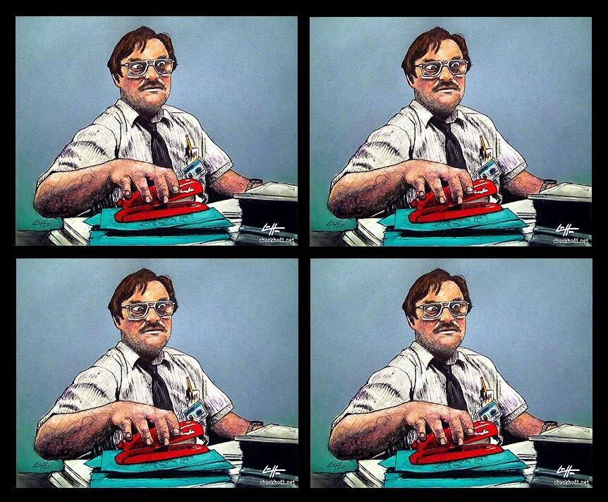 Office Space Stapler Memes Office Space Red Stapler