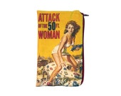 Attack of the 50 Foot Woman Makeup Bag / Pencil Pouch - Vintage Horror