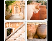 Eyeshoot The Beauty of Crete Ceramic Coaster Set