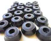 Vintage Buttons - Chunky Black Plastic Set