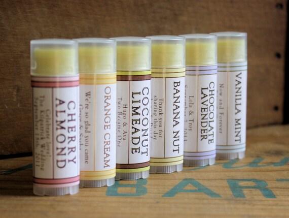 Wedding Favors - 100 Tubes of Lip Balm Beeswax Shea Cocoa Butter Jojoba