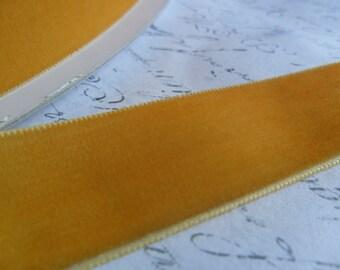 7/8inch Golden Buttercup Velvet Ribbon