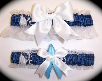 Tennessee Titans Wedding Garter Set    Handmade   Keepsake and Toss Bridal wc1