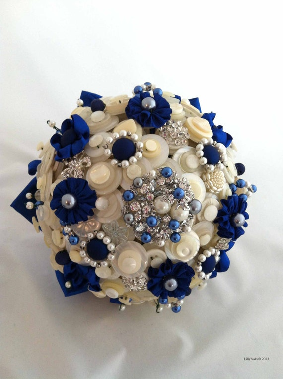 Button Bridal Bouquet Etsy : Items similar to lillybuds the diana button bouquet on etsy