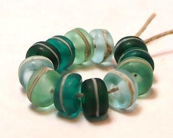 Handmade Lampwork Glass Beads - Organic Essentials - Bimini
