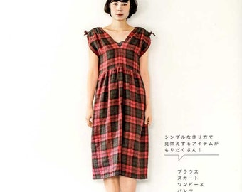 Straight Stitch Simple Clothes - Japanese Craft Pattern Book