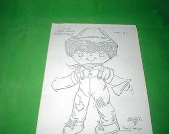 Vintage Little Boy Blue Farmer Doll Pattern to sew