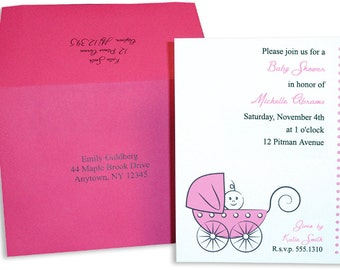Baby Buggy Baby Shower Pink