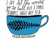 Tea Hand-Lettered Quote Art Print - Lisa Congdon
