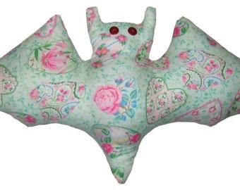 Victorian Heart Valentine Bat Pillow
