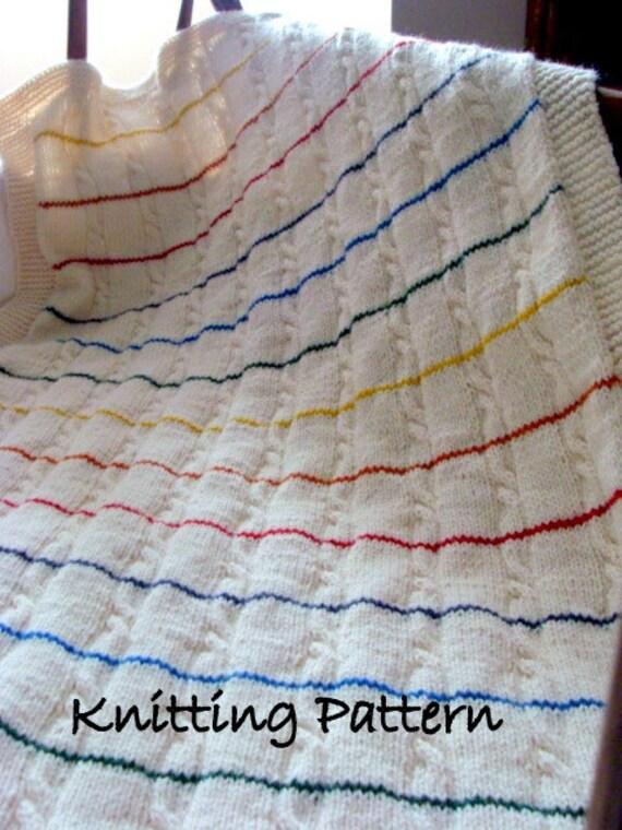 Tug Hill Crib Blanket Knitting Pattern Baby Wrap