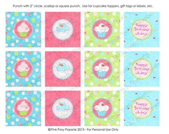 Printable Hey Cupcake Birthday Cupcake Toppers
