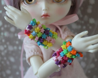 Candy Star Bracelets Discount Pack of 4 BJD MSD SD YoSD Doll Jewelry Cute Fairy Kei Pop Kei
