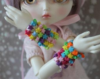 Candy Star Bracelets Discount Pack of 4 BJD MSD SD YoSD Doll Jewelry Cute Fairy Kei Pop Kei
