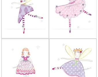 Ballerina Artwork, Ballerina Art, Prints for Childrens Ballernia fairy Bedding Wall Decor, Ballet, Steampunk art, 8 x 10