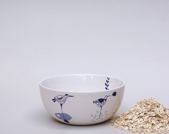 Ceramic bowl - waterbird - sea level