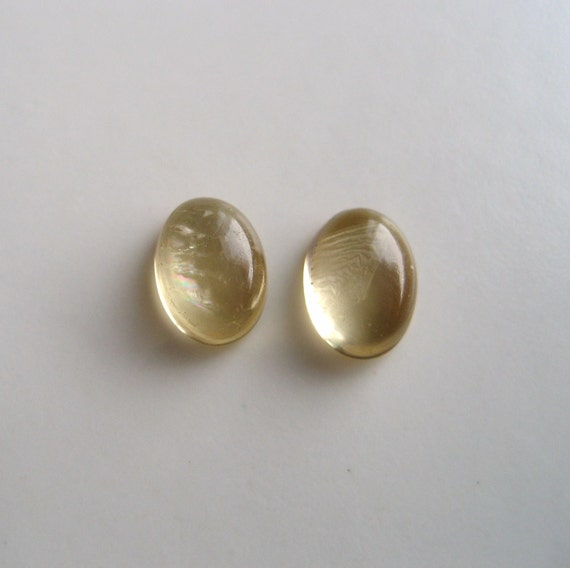 Citrine - Pair of Oval Cabs, 1.70 cts